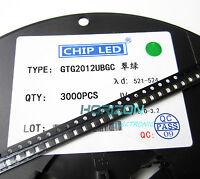 1000Pcs Green SMD SMT Diode 0805 Super Bright LED Lamp Bulb new