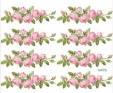 VinTaGe ImaGe Xl ChaRmiNg PinK RoSe SwaGs ShaBby WaTerSliDe DeCals FuRniTuRe Sz