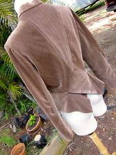 Ladies Jacket Custom Brown Corduroy stripe ribbed Chevron Peplum 12 M