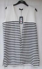 Waistcoat Striped Plus Size Coats, Jackets & Waistcoats for