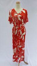 Hot in Hollywood Orange Floral Print Dress Large L