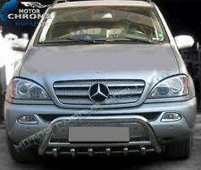 MERCEDES ML W163 BULL BAR Chrome asse spingere A-BAR 60mm (2002-2005) SS IN OFFERTA NUOVO