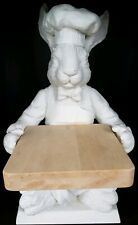 Mud Pie 1999 Fluer De Lis Series Chef Bunny With Cheese Server Cutting Board