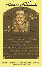 Harmon Killebrew Twins Hall of Fame Postcard Plaque Autograph Mint Black Auto