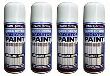 4x 200ml Heat Resistant Enamel Coating Radiator Paint White Gloss Smooth Finish