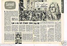 Coupure de presse Clipping 1977 (2 pages) John Law de Lauriston