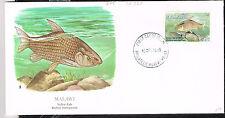 Malawi African Fauna Lake Yellow Fish stamp on FDC1989