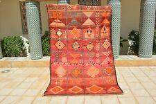 Vintage Rug Moroccan . Vintage Boujaad Rug Hand Woven by Berber /Berber Carpets