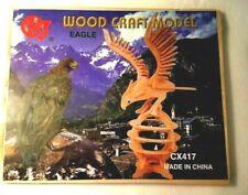 "CHJ Wood 3D Puzzle - ""Eagle"" Wood Craft Model #CX417 NEW"