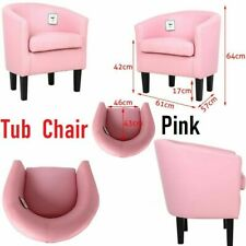 Luxury Tub Chair Armchair PU Leather Living Dining Room Hotel Office Sofa Seat
