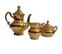 Arnart Creation of Japan Demitasse Tea Set w/ Gold Finish
