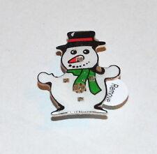 Nuevo Disfraz De Navidad Muñeco De Nieve Broche intermitente joyas Festivo Fiesta Media