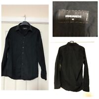 DSquared2 Black Shirt Size 46 Mens Long Sleeve Casual (A820)