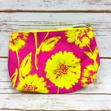 NWOT Pink & Yellow Floral Clinique Make Up Bag