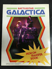 Vintage Original 1979 Battlestar Galactica T-Shirt Iron-On Transfer Book New Nos