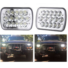 2X 15W LED Replacement Headlights For 1986-1995 Jeep Wrangler 1984-2001 Cherokee