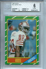 Topps 1986 Jerry Rice #161 San Francisco Forty Niners  BGS 6.0 Ex- Mt RC Card