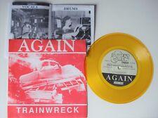 "Trainwreck - Again / Wait the turn / Watchful 7"" Yellow Vinyl PS"