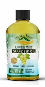 GRAPESEED OIL 100% Cold Pressed Unrefined, Organic, Pure & Natural 100ml NEW