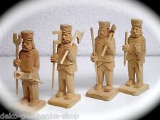4 tallada MINEROS 8cm Steiger BERGMANN PARA MANITAS DE MADERA 70235