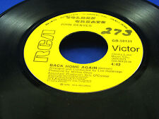JOHN DENVER - Back Home Again / Sweet Surrender - 1974 VG+ CANADA PRESSING