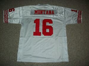 JOE MONTANA Unsigned Custom White San Fran Sewn New Football Jersey Sizes S-3XL