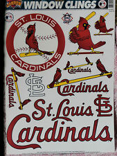 St. Louis Cardinals Window Stickers by Champion, Color Clings, Static Stickers