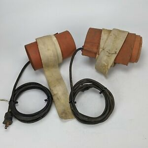 "2x Fibercast Model C 250F Electric 120v 6"" Heater Wrap - blanket pipe water"