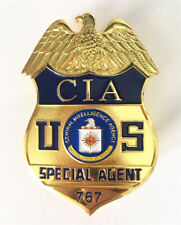 US CIA Number 767 Metal Badge Halloween Cosplay Metal Toy Gift Collection Badge