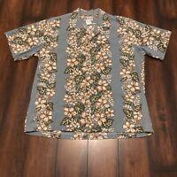 Hilo Hattie Floral Hawaiian Cotton Shirt Mens Sz XL Beach Vacation Cruise