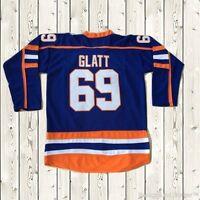 Goon Doug Glatt Halifax #69 Movie Highlanders Mens Hockey Jersey Stitched Blue