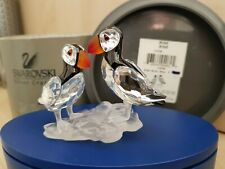 SWAROVSKI CRYSTAL 'PUFFINS' FREE UK POST ONLY WITH BUY IT NOW