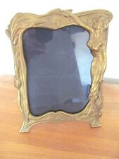 SUPERB  LARGE VINTAGE ART NOUVEAU BRASS PHOTO / PICTURE FRAME.