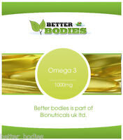 Omega 3 Fish Oil 1000mg - 1000 capsules Bulk Bag Offer Better Bodies