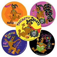 Scooby Doo Stickers x 5 -Trick or Treat Halloween Supplies Scooby Birthday Party