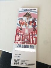 Unused Montreal Canadians tickets opening night oct 10