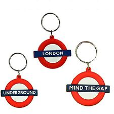 3 X London Underground Mind The Gap Gummi Schlüsselanhänger London-souvenir
