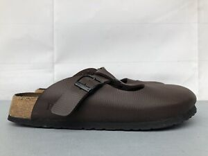 Birkenstock Papillio Mule Clog Slip on Size 39 US 8 Brown Textured Buckle Shoes