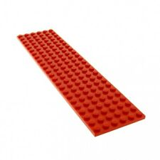 1x Lego Plaque de Construction Rouge 24x6 Train Set 340 218 1548 383 6395 3026