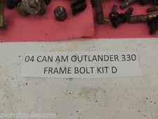 04 CANAM OUTLANDER 330 BOMBARDIER FRAME BOLT KIT MISC NUT BOLTS PARTS CAPS D