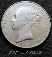 1861 Queen Victoria States Of Jersey 1/13th Of A Shilling Coin
