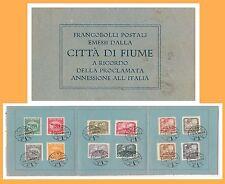 47694 -- ITALIA : FIUME  - ANNESSIONE all'ITALIA  su CARTONCINO - Sass 62/73
