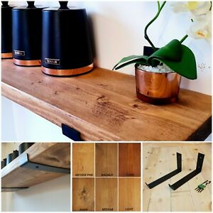 Rustic Industrial Mantle Shelf Shelves includes Brackets Handmade In UK