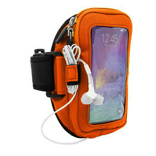Orange Sport Running Gym Armband Case for Samsung Galaxy Note 8 / iPhone 8 Plus