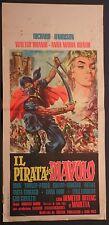 Locandina IL PIRATA DEL DIAVOLO 1964 RARA!! RICHARD HARRISON, WALTER BRANDI
