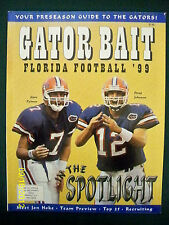 1999 FLORIDA GATORS FOOTBALL PRESEASON YEARBOOK - SPURRIER, GRAHAM , BROWN +++