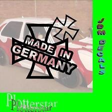 Iron Cross made in Germany  nr2 JDM Sticker aufkleber oem Power fun like Shocker
