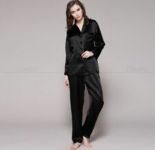 Women Silk Satin Pajamas Pyjama Set  PJS Sleepwear Loungewear Plus Size__Gifts