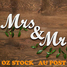 Mr and Mrs Wedding Reception Engagement Party Sign Wooden Letters Table Top Deco