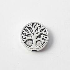 10pcs Tree Of Life Metal Beads Antique Silver 9mm - B0223150